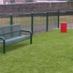 play area with bench