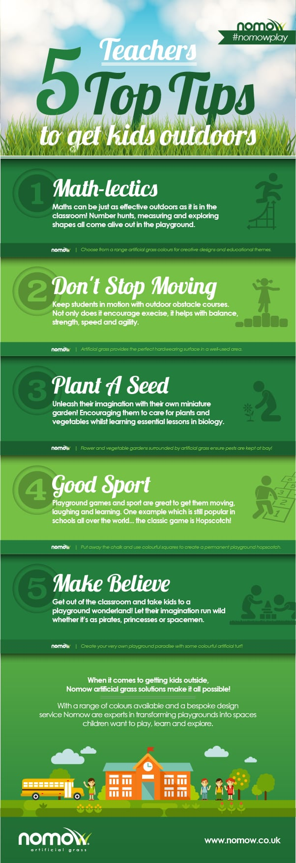 Teachers 5 Top Tips to Get Kids Outdoors [Infographic]